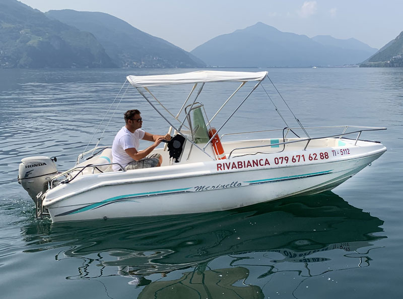 boat rental with license lake lugano